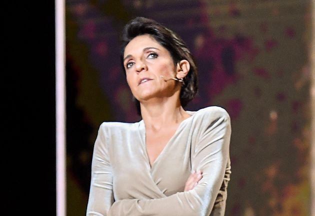 Florence Foresti pendant les César 2020 à la Salle Pleyel à