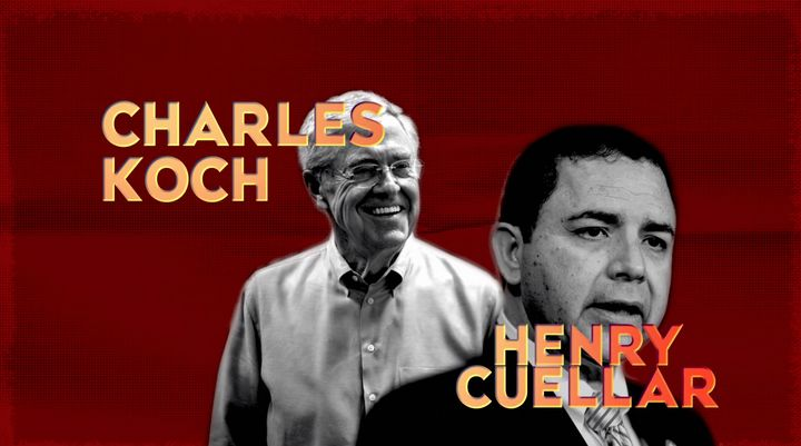 Progressive groups attacked Rep. Henry Cuellar for being the first Democrat whose campaign was backed by billionaire Charles Koch.