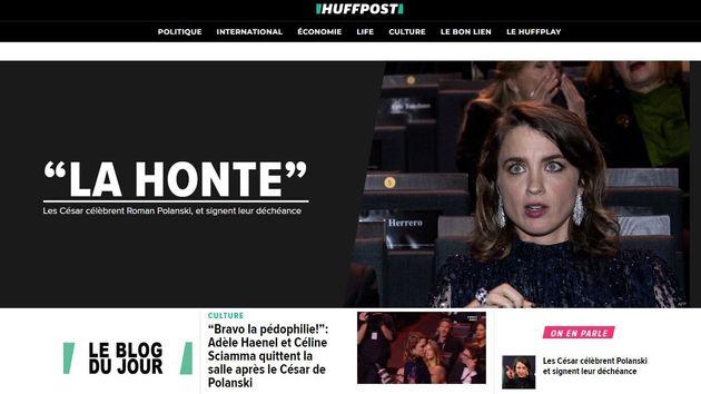 La home page di HuffPost