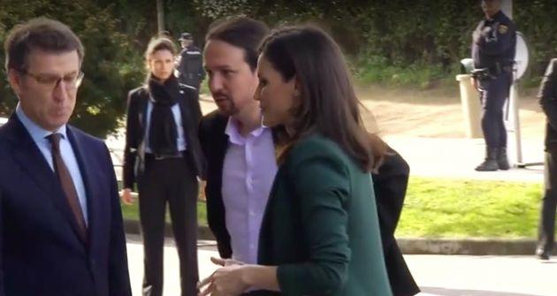Pablo Iglesias y la reina