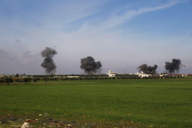 Εικόνα από βομβαρδισμό...