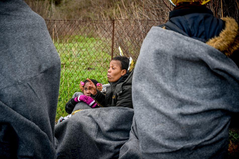 Λέσβος: Μετανάστες στην σκάλα Συκαμιάς