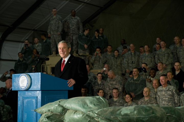 President George W. Bush ordered the U.S.-led invasion of Afghanistan in response to the Sept. 11, 2001 attacks.