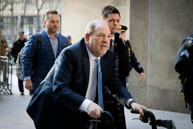 Harvey Weinstein arrives at a Manhattan courthouse as jury deliberations continue in his rape trial,...