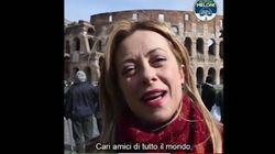 L'appello di Giorgia Meloni ai turisti: