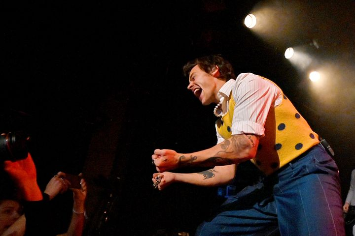 Harry Styles performed Friday at New York's Music Hall of Williamsburg for an invited crowd of SiriusXM and Pandora listeners