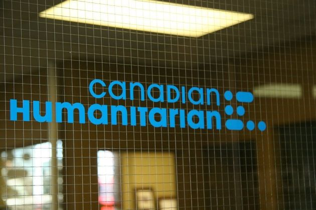 The Canadian Humanitarian logo is shown in an undated image from the group's Facebook