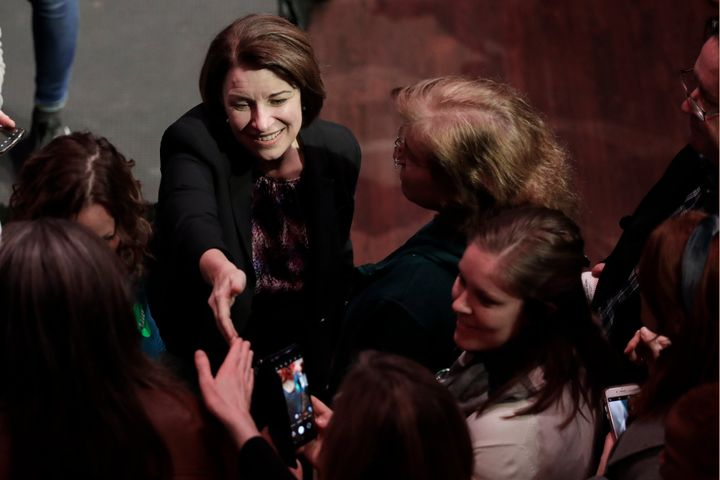 Democratic presidential candidate Sen. Amy Klobuchar campaigns Friday in Nashville, Tennessee.