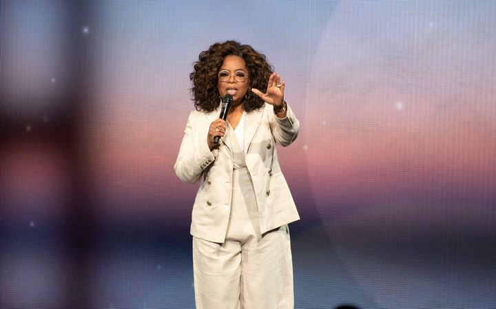 Oprah during one of her 2020 Vision: Your Life in Focus shows earlier this month