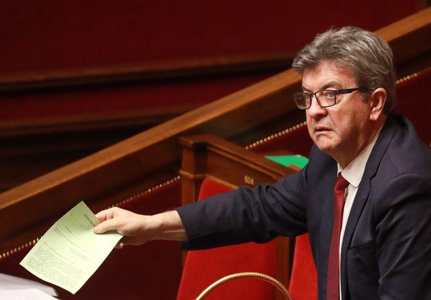 Jean-Luc Mélenchon, président du groupe insoumis à l'Assemblée