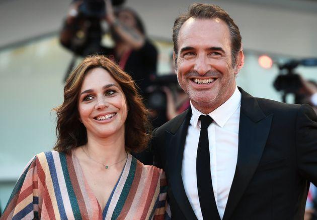 Nathalie Péchalat et Jean Dujardin, ici arrivant à la projection du film