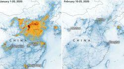 Le spettacolari immagini NASA mostrano il calo dell'inquinamento cinese