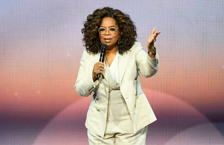 Oprah Winfrey speaks during her 2020 Vision: Your Life in Focus Tour in San Francisco.