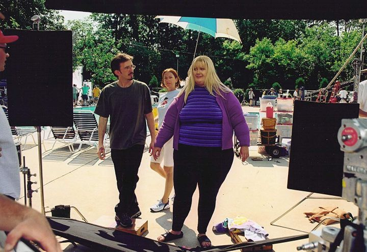 "Gwyneth Paltrow wearing a fat suit in ""Shallow Hal."""