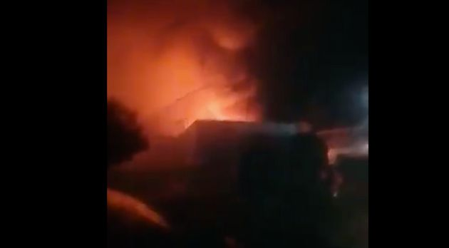 Incendio en el centro de refugiados de ACNUR en