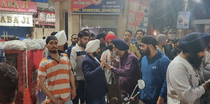 AAP leader Jarnail Singh at Tilak Nagar