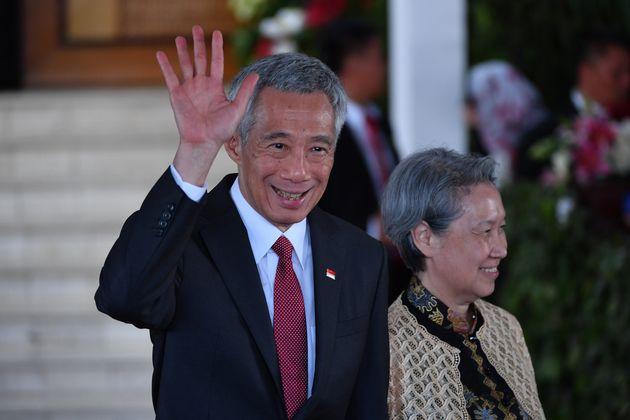 シンガポールのリー・シェンロン首相=2019年10月、ジャカルタ