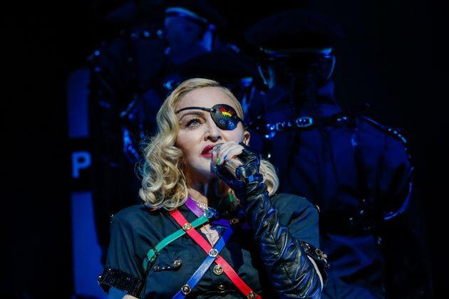 Madonna lors d'un concert à New York en
