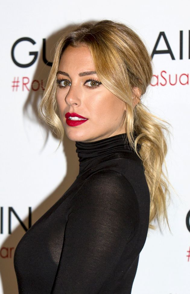 MADRID, SPAIN - OCTOBER 09: Blanca Suarez Presents 'RougeGby Blanca Suarez' at Salon Rojo on October...