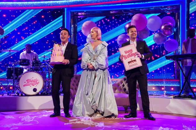 Ant and Dec with Anne Marie during an earlier segment of the