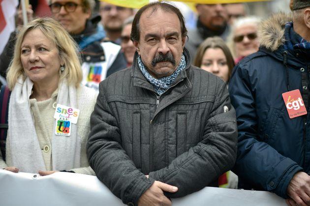 Le secrétaire général de la CGT Philippe Martinez lors d'une manifestation contre...
