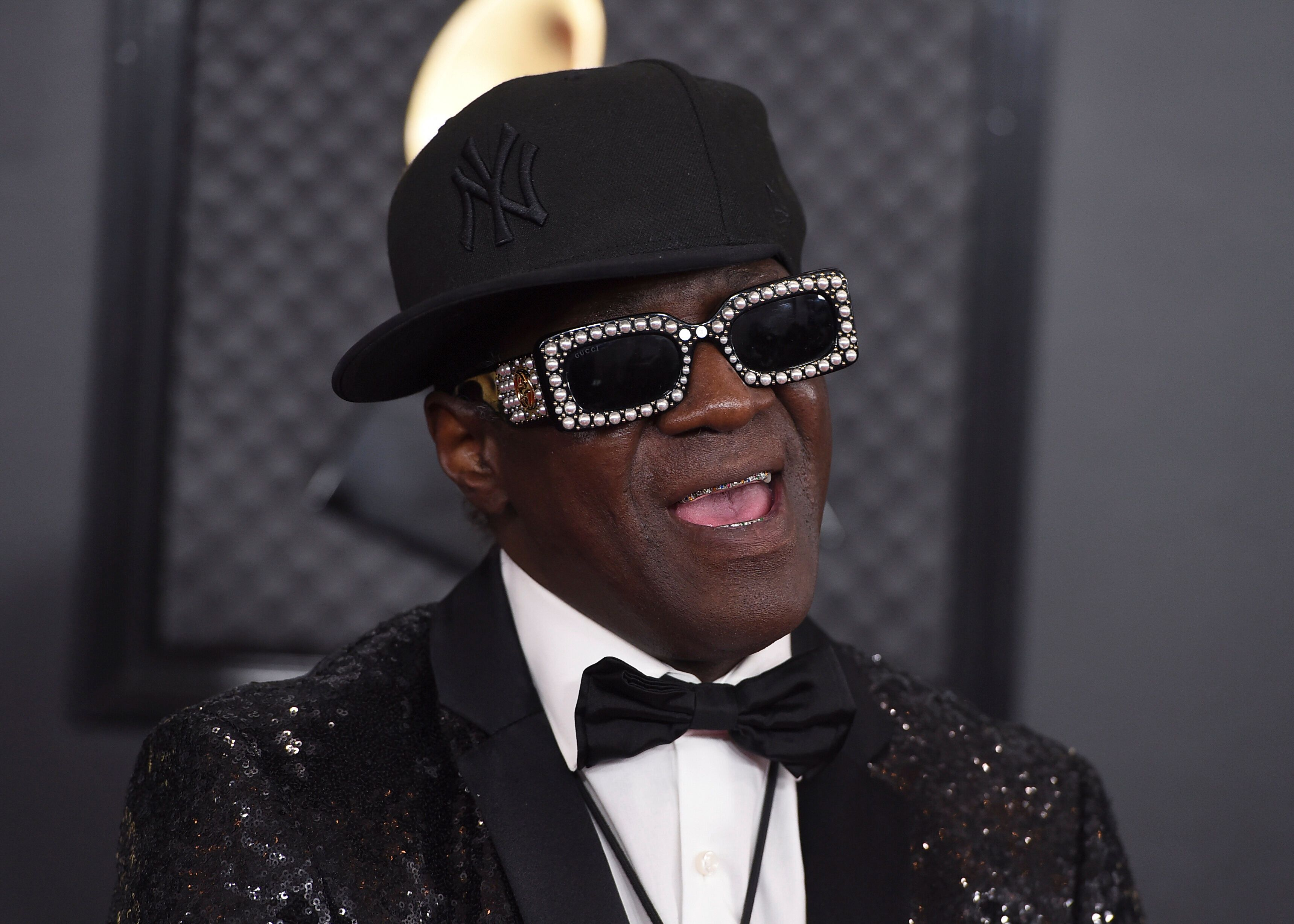 Flavor Flav at the Grammy Awards in January.
