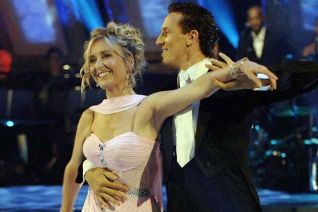 Fiona Phillips and Brendan Cole pictured in