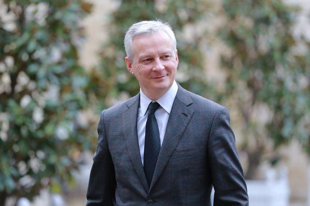 Bruno Le Maire, ici arrivant à l'Élysée à Paris pour assister à une...