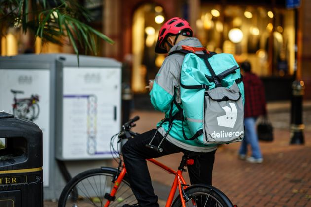 A Deliveroo driver. Workers in the gig economy could be left out of pocket if forced to