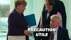 En plein Coronavirus, Angela Merkel se prend un vent sur une poignée de