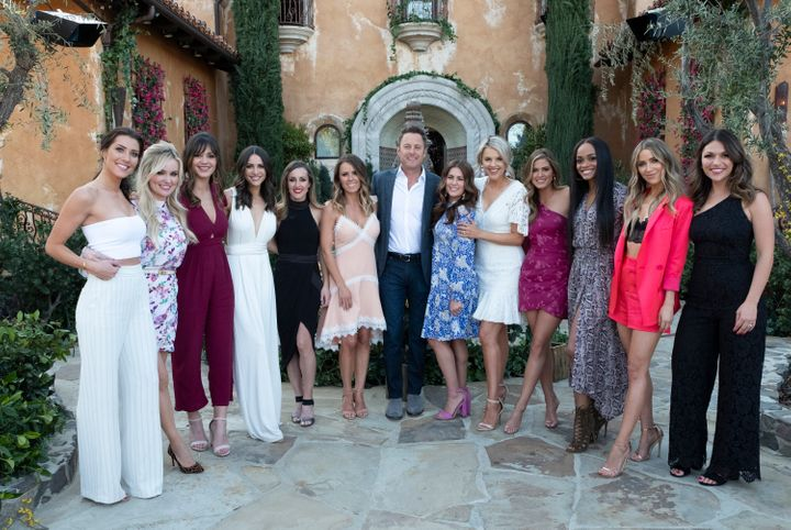 Some Bachelorettes throughout the franchise's history, who reunited at the Bachelor mansion in 2019 ahead of Bachelorette Han