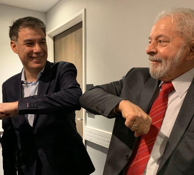 La gauche (ici Olivier Faure, le patron du Parti socialiste) a rencontré Lula et Dilma Rousseff...