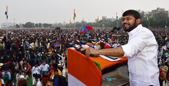 CPI leader Kanhaiya Kumar addressing the 'Nagrikta Bachao Desh Bachao' rally against CAA and NRC, at Gandhi Maidan on February 27, 2020 in Patna.