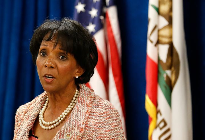 Los Angeles County District Attorney Jackie Lacey is facing two progressive challengers in Tuesday's primary race.