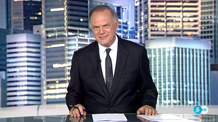 Pedro Piqueras, editor de 'Informativos Telecinco' en la edición de la noche.