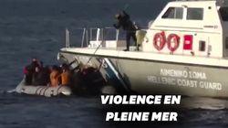 En Grèce, ces gardes-côtes tentent de couler un bateau de