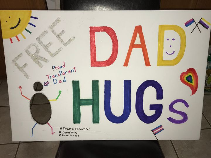 A sign David Scott carried to Fredericton Pride last year.