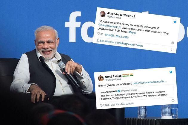 Modi announced he was