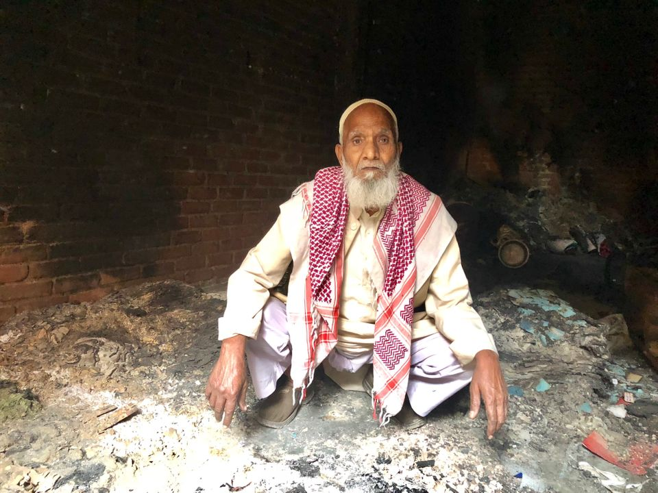Naseer Khan's home in Shiv Vihar was set on fire in the Delhi riots on 25 February.