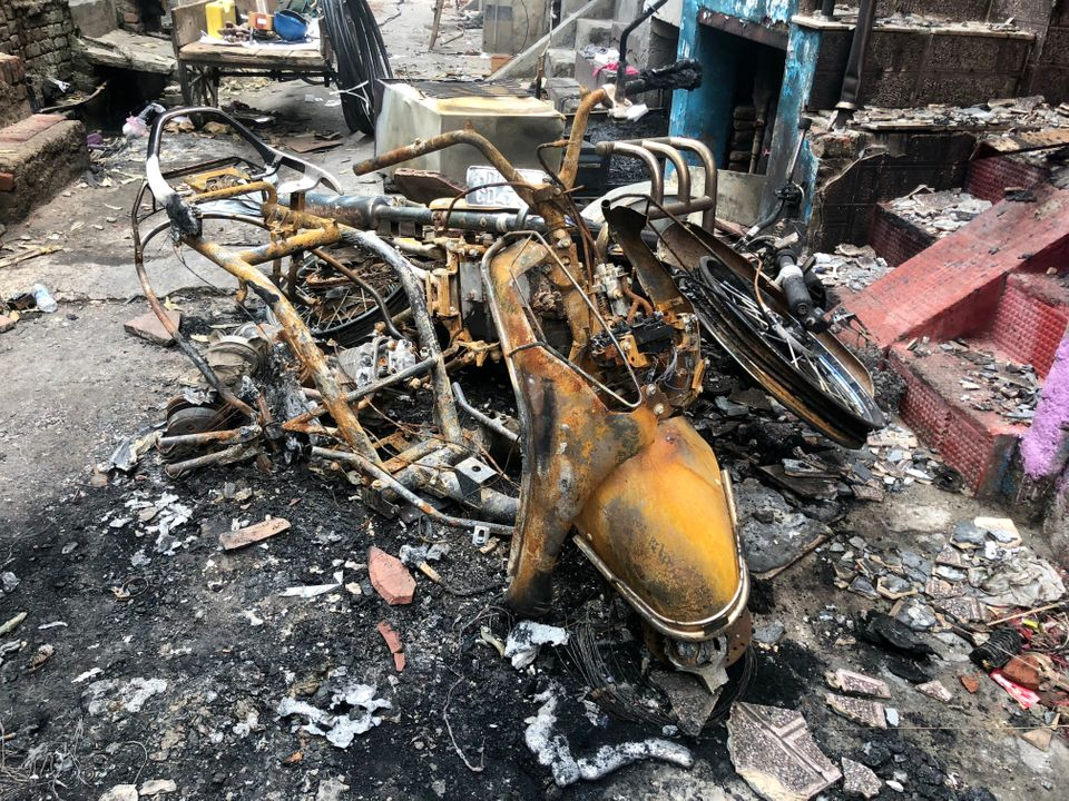 An overwhelming number of Muslim homes, shops and vehicles were torched in Shiv Vihar on 25