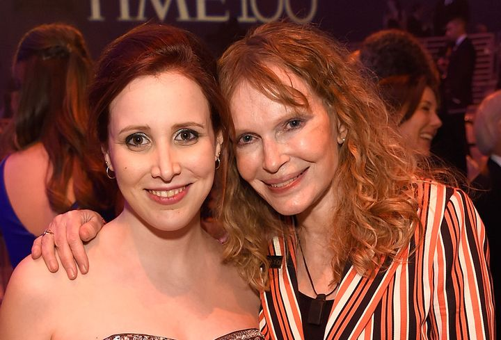 Dylan Farrow and Mia Farrow at the 2016 Time 100 Gala in New York City.