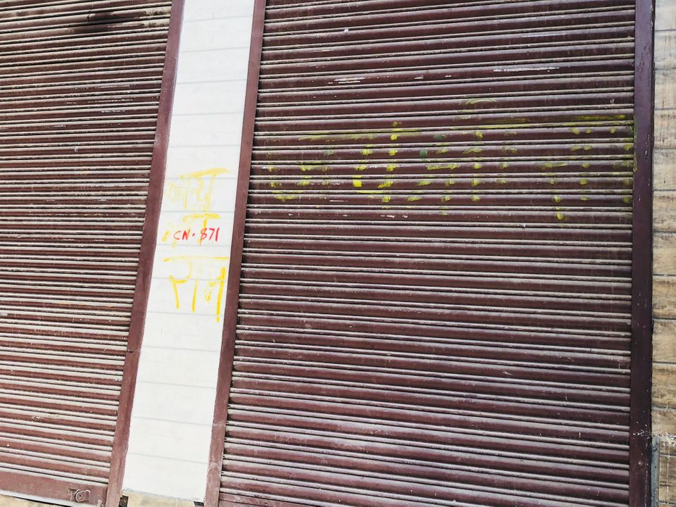 The words Jai Shri Ram was painted on store shutters to identify them as Hindu. A Muslim resident said...