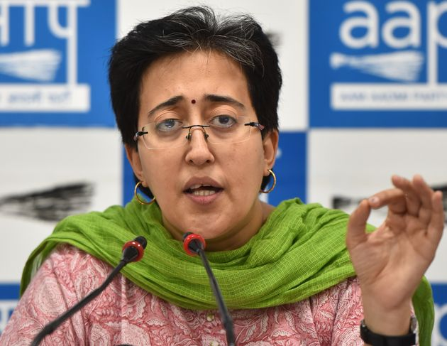 Aam Aadmi Party leader Atishi speaks to media during a press conference in New