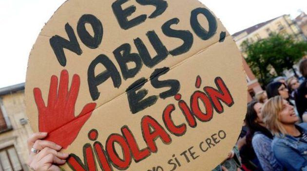 Imagen de una manifestación de repulsa a la sentencia contra los cinco integrantes de la