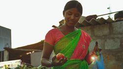 Saraswathi y la fruta