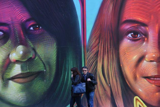 Mural pintado en Madrid por Change.org para el 8-M de