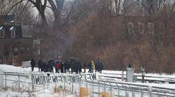 Blocus ferroviaires: la nouvelle barricade à Montréal levée quelques heures