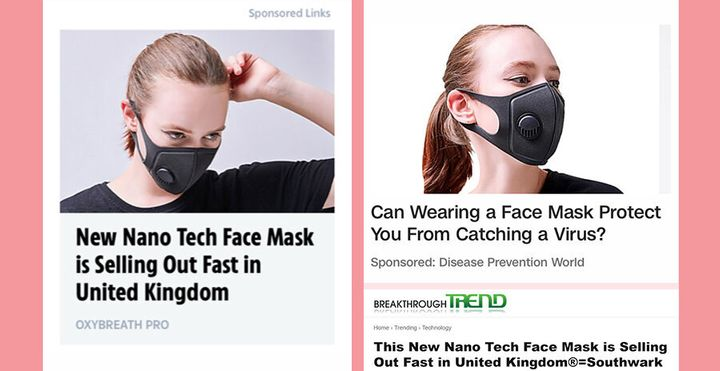 Face mask adverts are being banned amid the coronavirus outbreak.