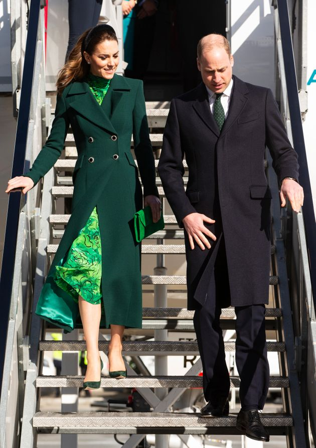 Prince William and the Duchess of Cambridge arrive at Dublin Airport on