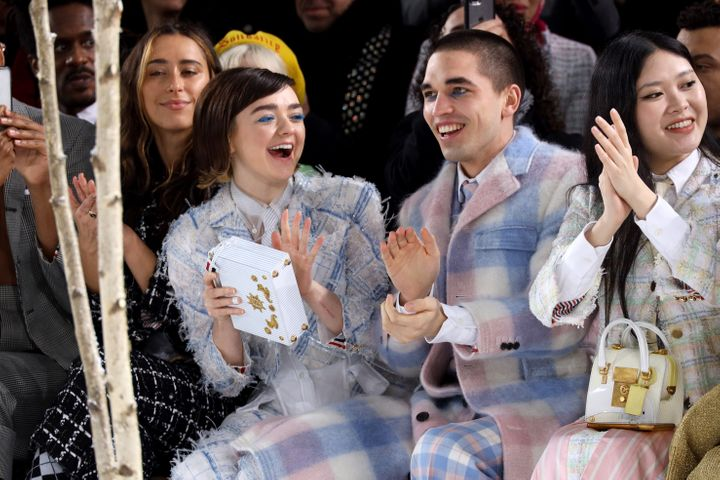 Actress Maisie Williams and her boyfriend Reuben Selby attend the Thom Browne show as part of the Paris Fashion Week Womenswe